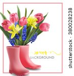spring background with blooming ... | Shutterstock .eps vector #380028238