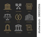 vector set of logo design... | Shutterstock .eps vector #380033506