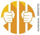 Hands Holding Prison Bars Flat...