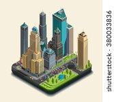 isometric city  3d  skyscraper... | Shutterstock .eps vector #380033836