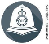 british police helmet flat icon ... | Shutterstock .eps vector #380034592