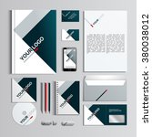 corporate identity template in... | Shutterstock .eps vector #380038012