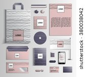 corporate identity template in... | Shutterstock .eps vector #380038042