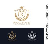 royal brand  king logo  crown... | Shutterstock .eps vector #380040406