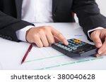 businessman analyzing report ... | Shutterstock . vector #380040628