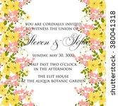 wedding floral invitation | Shutterstock .eps vector #380041318