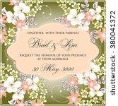 wedding floral invitation | Shutterstock .eps vector #380041372