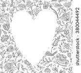 vector frame with floral... | Shutterstock .eps vector #380044492