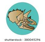 triceratops skull | Shutterstock . vector #380045296