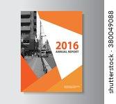 orange vector leaflet brochure... | Shutterstock .eps vector #380049088