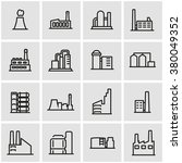 vector line factory icon set. | Shutterstock .eps vector #380049352