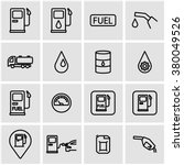 vector line gas station icon set | Shutterstock .eps vector #380049526