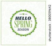 spring vintage retro style... | Shutterstock .eps vector #380059642