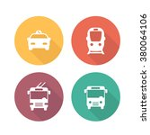 city transport icons  public... | Shutterstock .eps vector #380064106