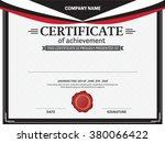 certificate template vector... | Shutterstock .eps vector #380066422