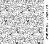 garden seamless pattern. vector ... | Shutterstock .eps vector #380066446