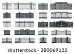 vector fence silhouette set...