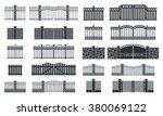 vector fence silhouette set... | Shutterstock .eps vector #380069122