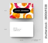 business card vector template... | Shutterstock .eps vector #380069338
