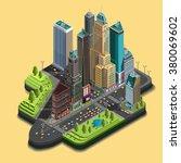 vector isometric city map 3d ... | Shutterstock .eps vector #380069602