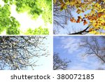 four seasons collage  several... | Shutterstock . vector #380072185