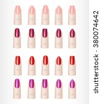 womans fingers. color set of... | Shutterstock . vector #380074642