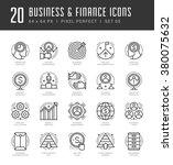 line icons set. trendy modern... | Shutterstock .eps vector #380075632