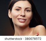 beautiful face of young... | Shutterstock . vector #380078572