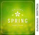 Spring Vector Typographic...