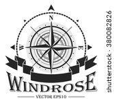 corporate logo with windrose.... | Shutterstock .eps vector #380082826