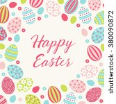 easter greeting card with... | Shutterstock .eps vector #380090872