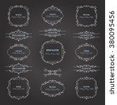 vintage frames and borders set... | Shutterstock .eps vector #380095456