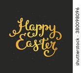 happy easter card with holiday... | Shutterstock .eps vector #380098096