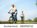 Senior Couple Cycling With...