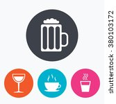 drinks icons. coffee cup and...   Shutterstock .eps vector #380103172