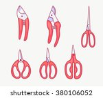 outline set of tools for... | Shutterstock .eps vector #380106052