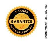 german icon 5 years warranty | Shutterstock . vector #380107702