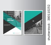 Green annual report Leaflet Brochure Flyer template A4 size design, book cover layout design, Abstract presentation templates | Shutterstock vector #380110252