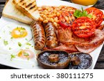 full english breakfast with... | Shutterstock . vector #380111275