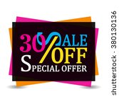 sale 30 off discount tag... | Shutterstock .eps vector #380130136
