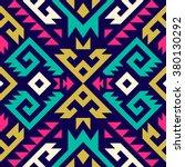 multicolor tribal navajo vector ... | Shutterstock .eps vector #380130292