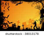grunge horror frame for... | Shutterstock .eps vector #38013178