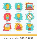 vector business thin line icons ... | Shutterstock .eps vector #380135452