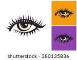 eye vector sketch in fashion... | Shutterstock .eps vector #380135836