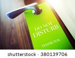 do not disturb green paper... | Shutterstock . vector #380139706