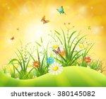 spring or summer background... | Shutterstock .eps vector #380145082