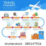 plan your travel infographic... | Shutterstock .eps vector #380147926