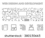 vector line design concept web...