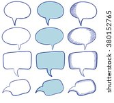 speech bubbles. vector... | Shutterstock .eps vector #380152765