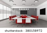 contemporary  board room with... | Shutterstock . vector #380158972